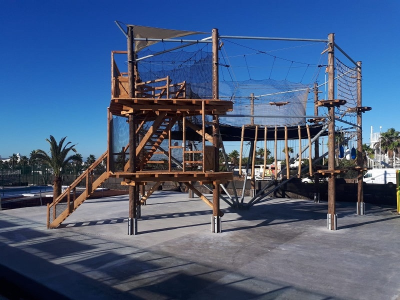 high ropes course construction